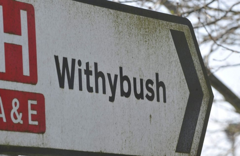 Withybush sign