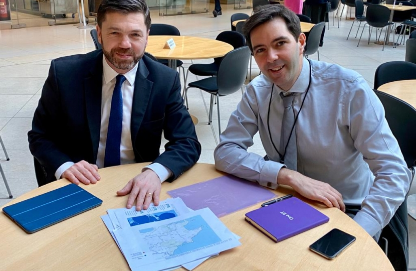 Stephen Crabb and Henry Parker of BT